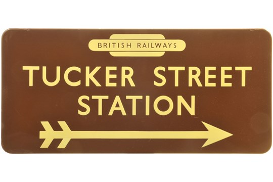 tucker street station sign